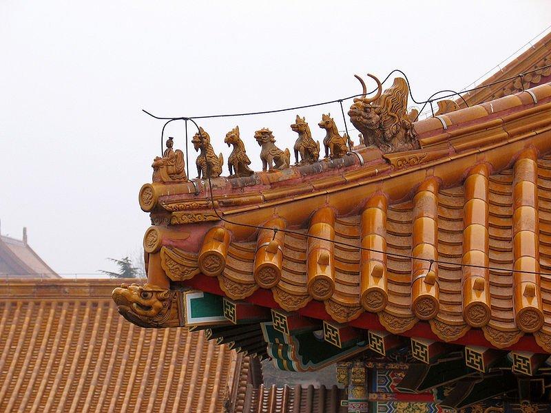Detalhe Telhado Cidade Proibida da China