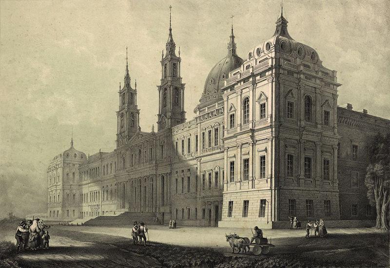 Convento de Mafra  em 1853 - Cortesia da Bibiloteca Nac. de Portugal