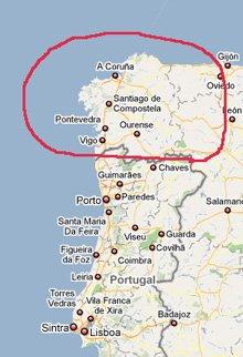 Galiza - Imagem Google Maps