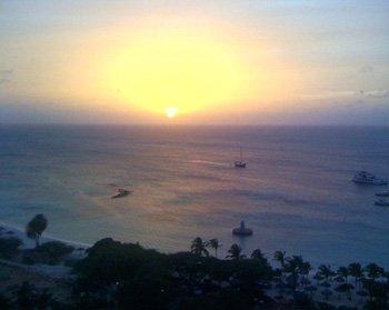 Por do Sol em Aruba