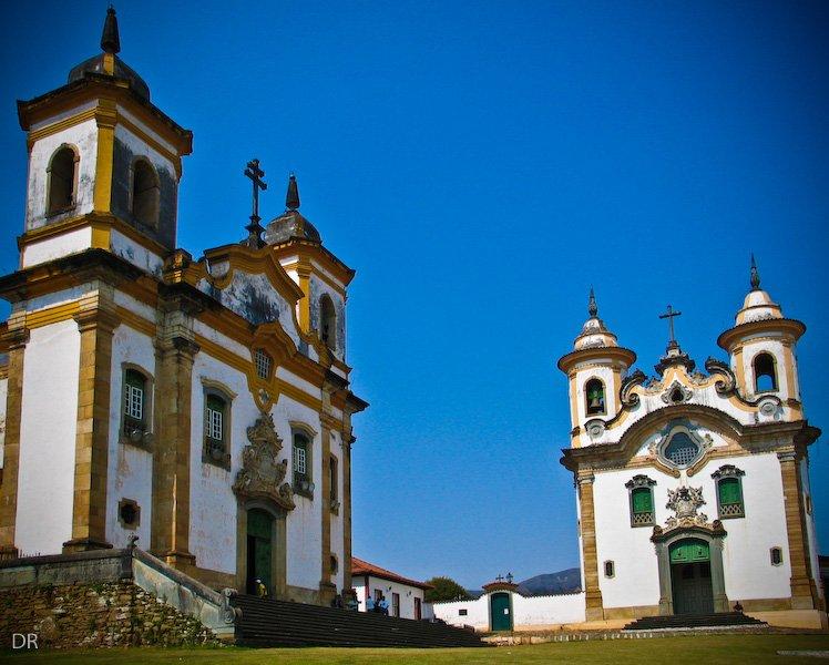 Igrejas São Francisco de Assis e Nossa Senhora do Carmo, Mariana/MG (Foto: Edernon Marcos Pereira)