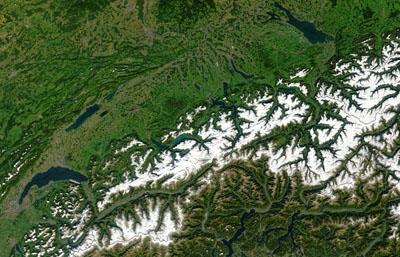Imagens de Satélite - Alpes Suiços