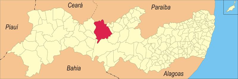 Localização de Serra Talhada - Mapa de Wellber Drayton - Wikipédia