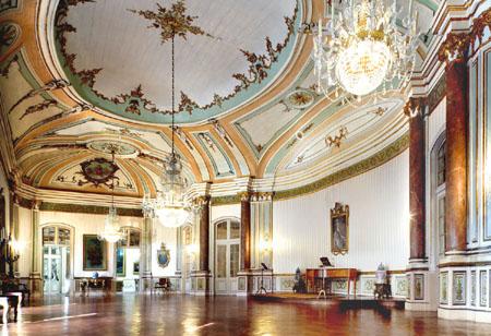 Sala de Música - Palácio de Queluz - Foto de Carlos Pombo ©