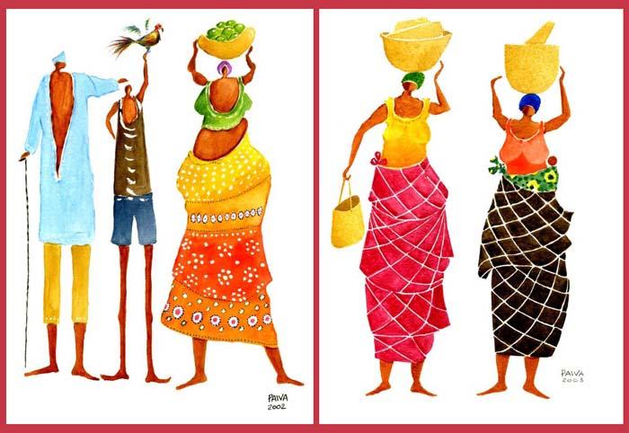 Exposição Aguarelas de África - Manuel Paiva ©