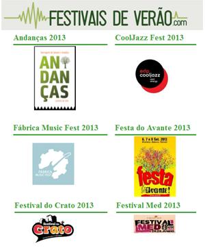 Festivais de Verão em Portugal 2013