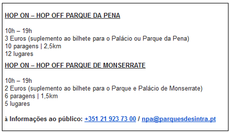 Percursos nos Parques da Pena e de Monserrate
