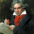 Óleo sobre tela - Ludwig van Beethoven - 1870 - (Artista Joseph Karl Stieler * 1781 † 1858)