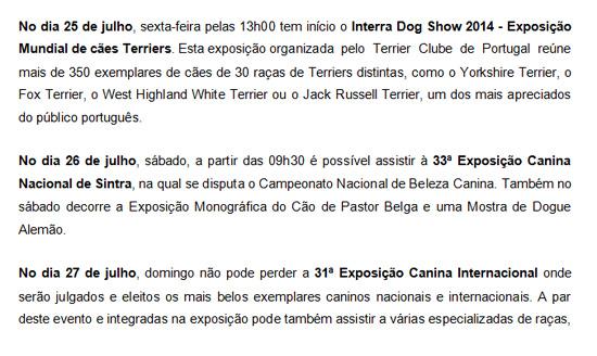 Exposição Canina de Sintra