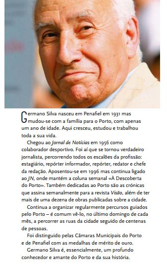Germano Silva - Autor de Caminhar pelo Porto