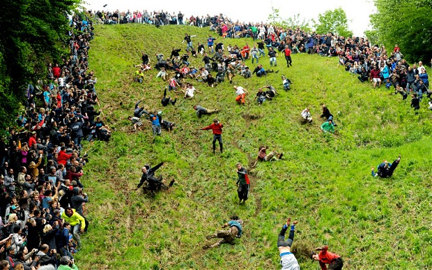 Cheese Rolling - Gloucestershire Foto de PA ©