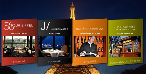 Restaurantes na Torre Eiffel