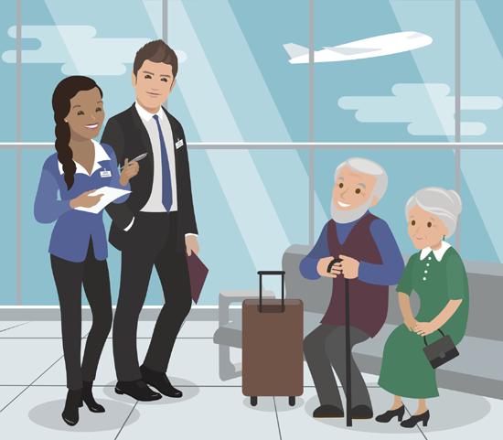 Viajar Avião na Terceira Idade