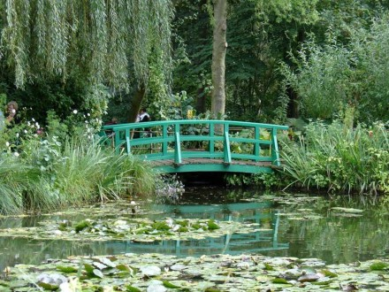 Jardim de Claude Monet, em Giverny, na França - Foto Revista Veja ©