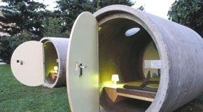Hotel no Tubo de Concreto - Dasparkhotel