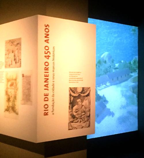 Vídeo do Rio de Janeiro em 1565 no Museu Histórico Nacional