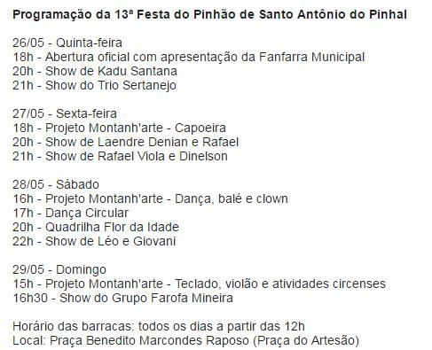 Festa do Pinhão em Santo António do Pinhal