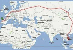 A maior viagem de comboio do mundo