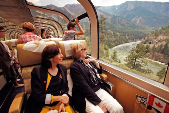 O Trem Transparente - Rocky Mointaineer Canadá