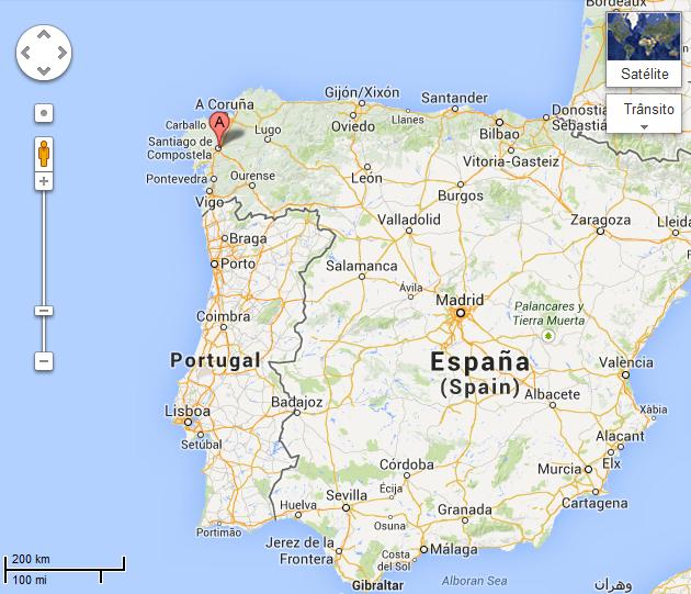 mapa de espanha santiago de compostela Dicas para o Caminho a Santiago de Compostela · bigviagem mapa de espanha santiago de compostela
